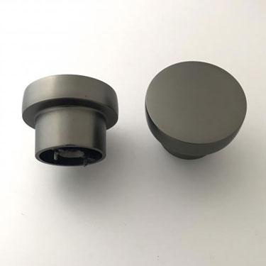 Knopp - Svartkrom - 40mm